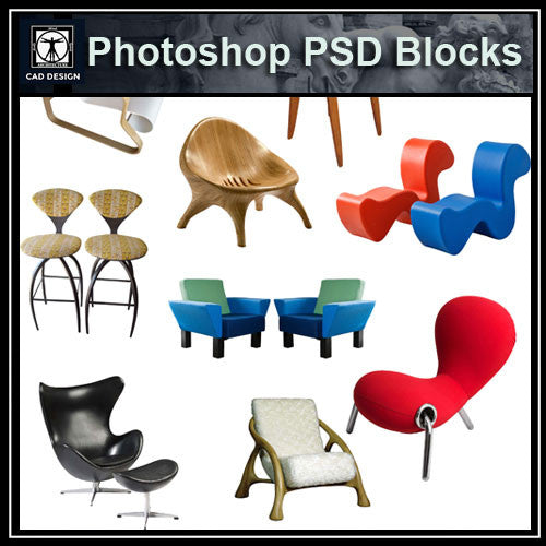 Photoshop PSD Sofa and Chair Blocks V2