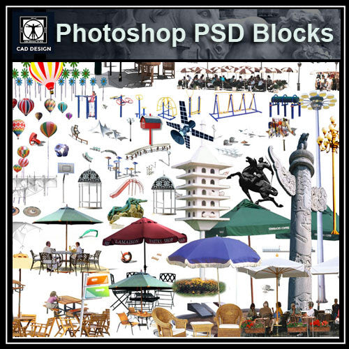 Photoshop PSD Landscape Decorative Elements 2