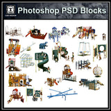 Photoshop PSD Children's Play Equipment 3 - CAD Design | Download CAD Drawings | AutoCAD Blocks | AutoCAD Symbols | CAD Drawings | Architecture Details│Landscape Details | See more about AutoCAD, Cad Drawing and Architecture Details