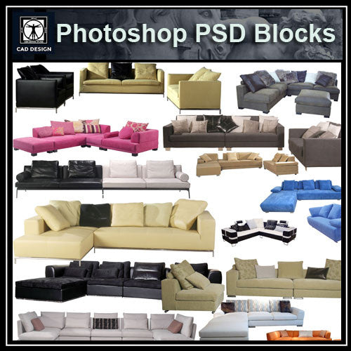 Photoshop PSD Sofa and Chair Blocks V3