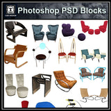 Photoshop PSD Sofa and Chair Blocks V5