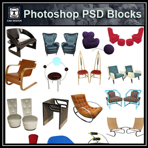 Photoshop PSD Sofa and Chair Blocks V5 - CAD Design | Download CAD Drawings | AutoCAD Blocks | AutoCAD Symbols | CAD Drawings | Architecture Details│Landscape Details | See more about AutoCAD, Cad Drawing and Architecture Details