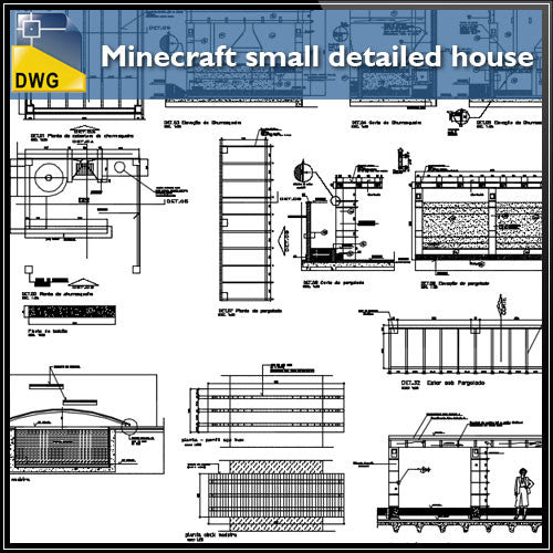 Minecraft small detailed house