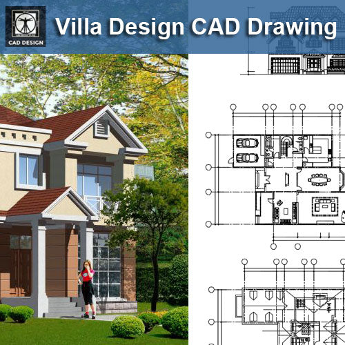 Villa Design CAD Drawings V15 - CAD Design | Download CAD Drawings | AutoCAD Blocks | AutoCAD Symbols | CAD Drawings | Architecture Details│Landscape Details | See more about AutoCAD, Cad Drawing and Architecture Details
