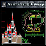 Dream Castle Cad Drawings 2 - CAD Design | Download CAD Drawings | AutoCAD Blocks | AutoCAD Symbols | CAD Drawings | Architecture Details│Landscape Details | See more about AutoCAD, Cad Drawing and Architecture Details