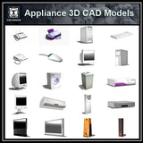Appliances 3D Cad Models - CAD Design | Download CAD Drawings | AutoCAD Blocks | AutoCAD Symbols | CAD Drawings | Architecture Details│Landscape Details | See more about AutoCAD, Cad Drawing and Architecture Details