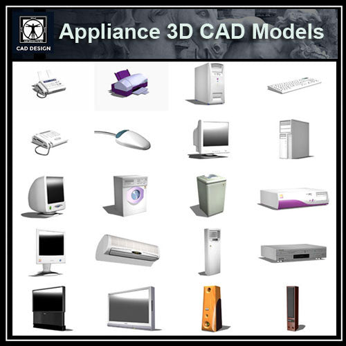 Appliances 3D Cad Models