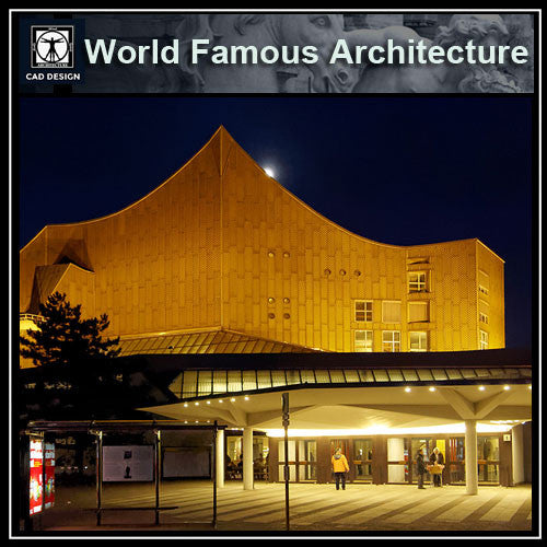 Hans Scharoun's Berliner Philharmonie - CAD Design | Download CAD Drawings | AutoCAD Blocks | AutoCAD Symbols | CAD Drawings | Architecture Details│Landscape Details | See more about AutoCAD, Cad Drawing and Architecture Details