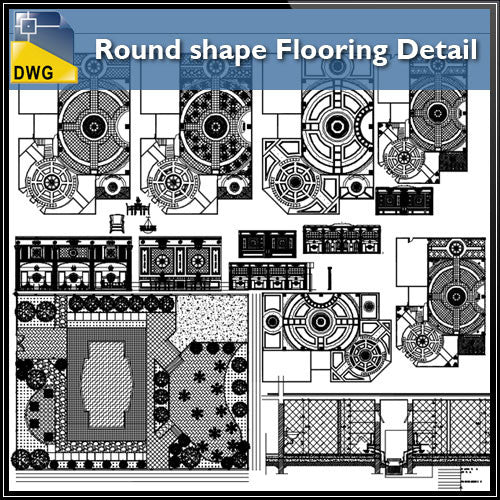 Free Round shape Flooring Detail