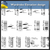 Wardrobe Elevation design