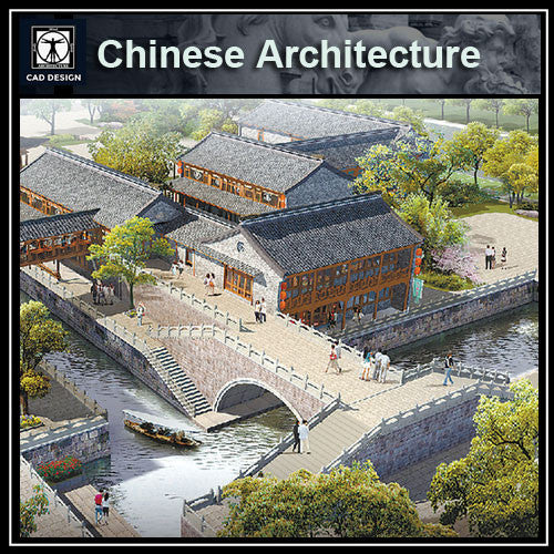 Chinese Architecture CAD Drawings-Chinese Pavilion,Garden Design