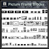 Free Interior Decorative blocks-Picture frames - CAD Design | Download CAD Drawings | AutoCAD Blocks | AutoCAD Symbols | CAD Drawings | Architecture Details│Landscape Details | See more about AutoCAD, Cad Drawing and Architecture Details