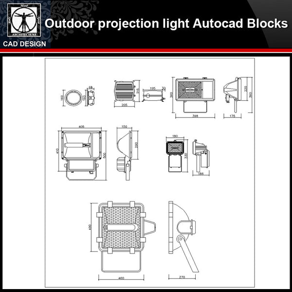 【 Outdoor projection light CAD Blocks Collection】Outdoor projection light Autocad Blocks Collection - CAD Design | Download CAD Drawings | AutoCAD Blocks | AutoCAD Symbols | CAD Drawings | Architecture Details│Landscape Details | See more about AutoCAD, Cad Drawing and Architecture Details