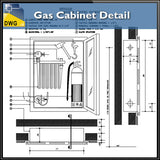 Gas Cabinet Details - CAD Design | Download CAD Drawings | AutoCAD Blocks | AutoCAD Symbols | CAD Drawings | Architecture Details│Landscape Details | See more about AutoCAD, Cad Drawing and Architecture Details