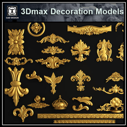 3D Max Decoration Models V.6