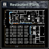 Restaurant blocks and plans - CAD Design | Download CAD Drawings | AutoCAD Blocks | AutoCAD Symbols | CAD Drawings | Architecture Details│Landscape Details | See more about AutoCAD, Cad Drawing and Architecture Details