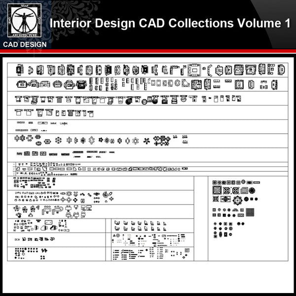 ★【Interior Design Autocad Blocks Collections V.1】All kinds of CAD Blocks Bundle - CAD Design | Download CAD Drawings | AutoCAD Blocks | AutoCAD Symbols | CAD Drawings | Architecture Details│Landscape Details | See more about AutoCAD, Cad Drawing and Architecture Details