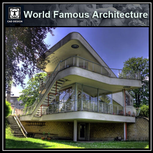 Schminke House-Hans Scharoun - CAD Design | Download CAD Drawings | AutoCAD Blocks | AutoCAD Symbols | CAD Drawings | Architecture Details│Landscape Details | See more about AutoCAD, Cad Drawing and Architecture Details