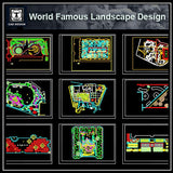 World Famous Landscape Design - CAD Design | Download CAD Drawings | AutoCAD Blocks | AutoCAD Symbols | CAD Drawings | Architecture Details│Landscape Details | See more about AutoCAD, Cad Drawing and Architecture Details