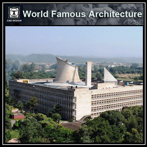 Le Corbusier-Palace of Assembly - CAD Design | Download CAD Drawings | AutoCAD Blocks | AutoCAD Symbols | CAD Drawings | Architecture Details│Landscape Details | See more about AutoCAD, Cad Drawing and Architecture Details