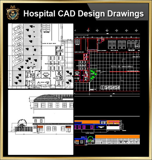 ★【Hospital design,Treatment room CAD Design Drawings V.6】@Medical equipment, ward equipment-Autocad Blocks,Drawings,CAD Details,Elevation
