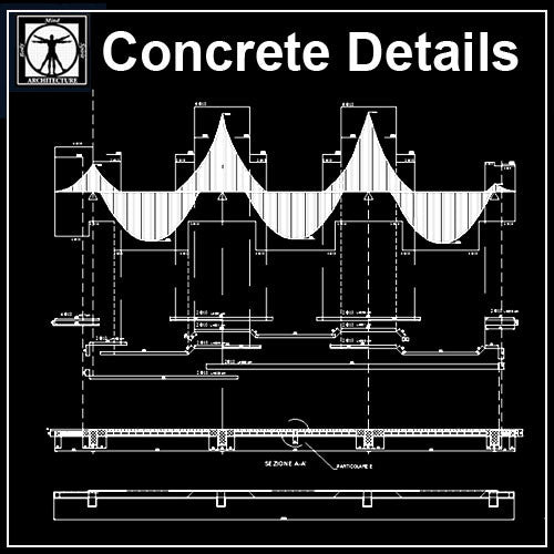 Free Concrete Detail 3 - CAD Design | Download CAD Drawings | AutoCAD Blocks | AutoCAD Symbols | CAD Drawings | Architecture Details│Landscape Details | See more about AutoCAD, Cad Drawing and Architecture Details