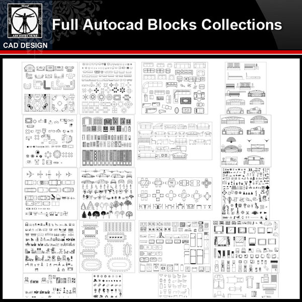 ★【Full Autocad Blocks Collections】All kinds of CAD Blocks Bundle - CAD Design | Download CAD Drawings | AutoCAD Blocks | AutoCAD Symbols | CAD Drawings | Architecture Details│Landscape Details | See more about AutoCAD, Cad Drawing and Architecture Details