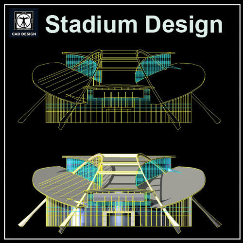 Stadium Cad Drawings 4 - CAD Design | Download CAD Drawings | AutoCAD Blocks | AutoCAD Symbols | CAD Drawings | Architecture Details│Landscape Details | See more about AutoCAD, Cad Drawing and Architecture Details