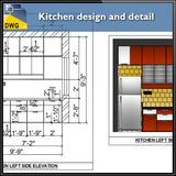 Kitchen design and detail - CAD Design | Download CAD Drawings | AutoCAD Blocks | AutoCAD Symbols | CAD Drawings | Architecture Details│Landscape Details | See more about AutoCAD, Cad Drawing and Architecture Details