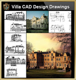 ★【Villa CAD Design,Details Project V.8-French Fontainebleau Style】Chateau,Manor,Mansion,Villa@Autocad Blocks,Drawings,CAD Details,Elevation - CAD Design | Download CAD Drawings | AutoCAD Blocks | AutoCAD Symbols | CAD Drawings | Architecture Details│Landscape Details | See more about AutoCAD, Cad Drawing and Architecture Details