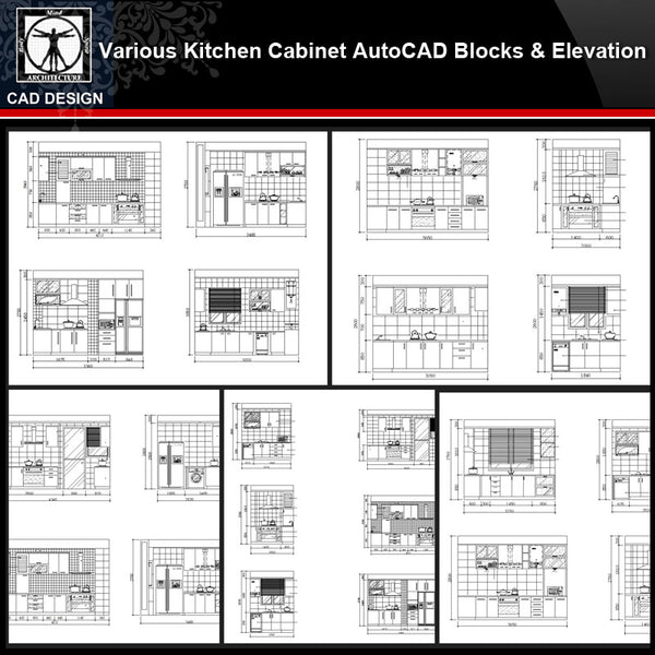 ★【Various Kitchen Cabinet Autocad Blocks & elevation V.1】All kinds of Kitchen Cabinet CAD drawings Bundle - CAD Design | Download CAD Drawings | AutoCAD Blocks | AutoCAD Symbols | CAD Drawings | Architecture Details│Landscape Details | See more about AutoCAD, Cad Drawing and Architecture Details