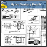Hydro Sanitary Details - CAD Design | Download CAD Drawings | AutoCAD Blocks | AutoCAD Symbols | CAD Drawings | Architecture Details│Landscape Details | See more about AutoCAD, Cad Drawing and Architecture Details