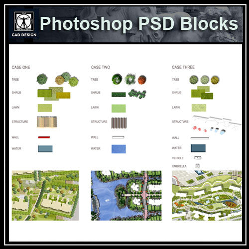 Photoshop PSD Landscape Blocks V3(Recommand!!) - CAD Design | Download CAD Drawings | AutoCAD Blocks | AutoCAD Symbols | CAD Drawings | Architecture Details│Landscape Details | See more about AutoCAD, Cad Drawing and Architecture Details