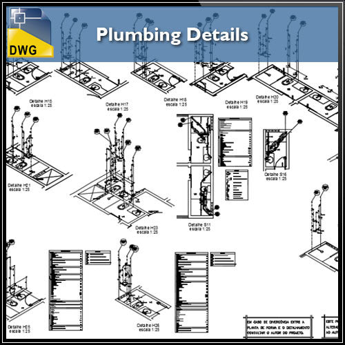 Plumbing Detail Design in autocad dwg files - CAD Design | Download CAD Drawings | AutoCAD Blocks | AutoCAD Symbols | CAD Drawings | Architecture Details│Landscape Details | See more about AutoCAD, Cad Drawing and Architecture Details