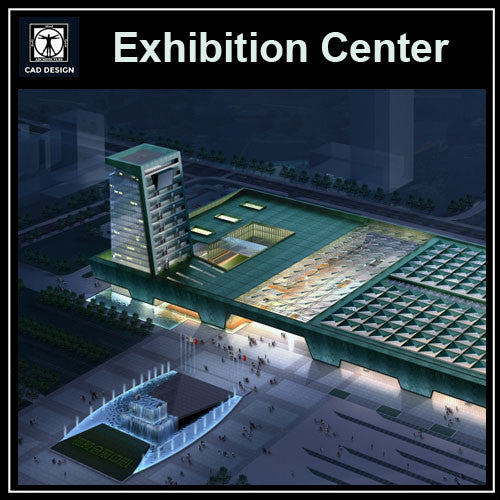 Exhibition Centre Cad Drawings - CAD Design | Download CAD Drawings | AutoCAD Blocks | AutoCAD Symbols | CAD Drawings | Architecture Details│Landscape Details | See more about AutoCAD, Cad Drawing and Architecture Details
