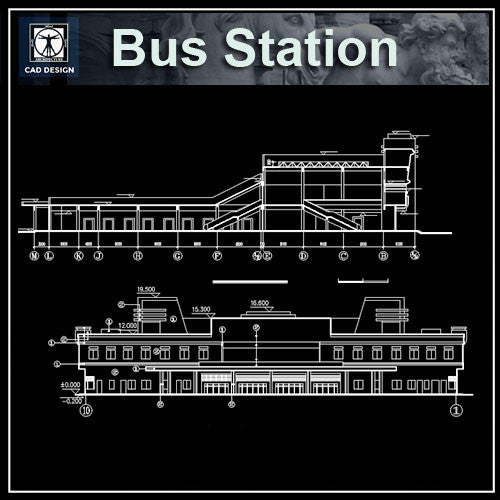 Bus Station Cad Drawings - CAD Design | Download CAD Drawings | AutoCAD Blocks | AutoCAD Symbols | CAD Drawings | Architecture Details│Landscape Details | See more about AutoCAD, Cad Drawing and Architecture Details