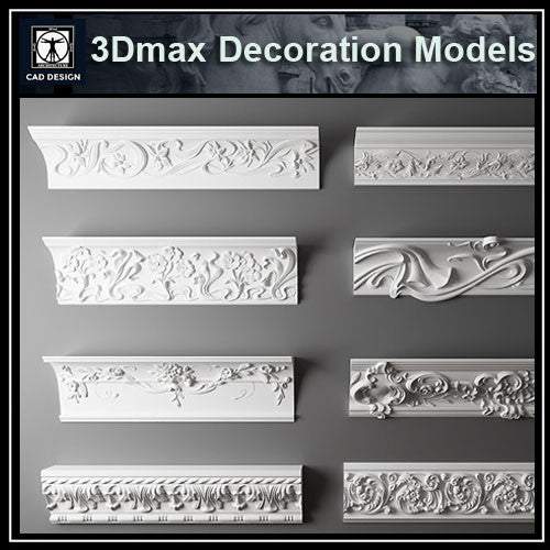 3D Max Decoration Models V.4 - CAD Design | Download CAD Drawings | AutoCAD Blocks | AutoCAD Symbols | CAD Drawings | Architecture Details│Landscape Details | See more about AutoCAD, Cad Drawing and Architecture Details