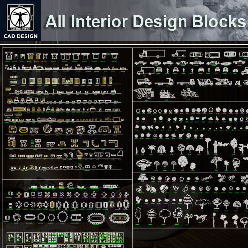 All Interior Design Blocks 7 - CAD Design | Download CAD Drawings | AutoCAD Blocks | AutoCAD Symbols | CAD Drawings | Architecture Details│Landscape Details | See more about AutoCAD, Cad Drawing and Architecture Details