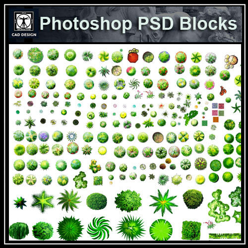 Photoshop PSD Landscape Tree Blocks 2