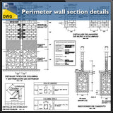 Perimeter wall section design drawing