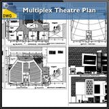 Multiplex Theatre Plan - CAD Design | Download CAD Drawings | AutoCAD Blocks | AutoCAD Symbols | CAD Drawings | Architecture Details│Landscape Details | See more about AutoCAD, Cad Drawing and Architecture Details