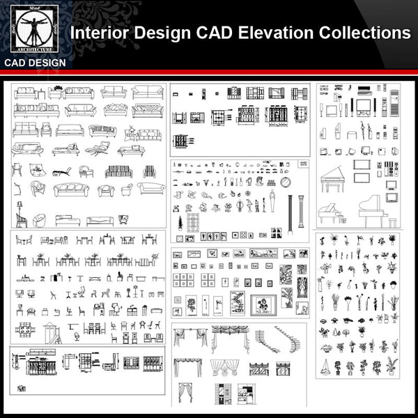 ★【Interior Design Autocad Elevation Collections V.1】All kinds of CAD Elevation Bundle - CAD Design | Download CAD Drawings | AutoCAD Blocks | AutoCAD Symbols | CAD Drawings | Architecture Details│Landscape Details | See more about AutoCAD, Cad Drawing and Architecture Details