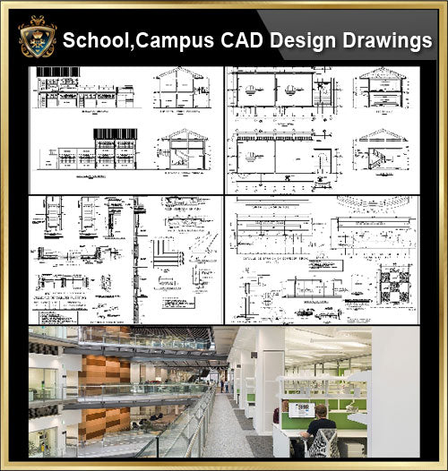 ★【School, University, College,Campus CAD Design Project V.6】@Autocad Blocks,Drawings,CAD Details,Elevation