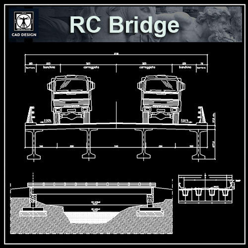 Free RC Bridge Details - CAD Design | Download CAD Drawings | AutoCAD Blocks | AutoCAD Symbols | CAD Drawings | Architecture Details│Landscape Details | See more about AutoCAD, Cad Drawing and Architecture Details