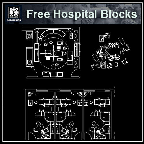Free Hospital Design Blocks - CAD Design | Download CAD Drawings | AutoCAD Blocks | AutoCAD Symbols | CAD Drawings | Architecture Details│Landscape Details | See more about AutoCAD, Cad Drawing and Architecture Details
