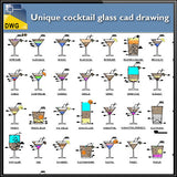 Unique cocktail glass cad drawing - CAD Design | Download CAD Drawings | AutoCAD Blocks | AutoCAD Symbols | CAD Drawings | Architecture Details│Landscape Details | See more about AutoCAD, Cad Drawing and Architecture Details