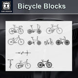 Free Bicycle Blocks - CAD Design | Download CAD Drawings | AutoCAD Blocks | AutoCAD Symbols | CAD Drawings | Architecture Details│Landscape Details | See more about AutoCAD, Cad Drawing and Architecture Details