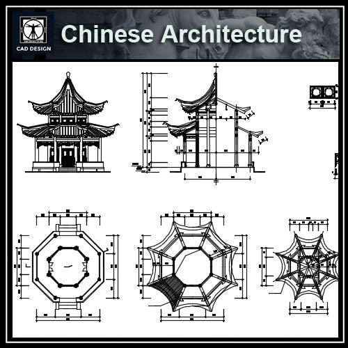 Chinese Architecture CAD Drawings-All Chinese Pavilion Collections - CAD Design | Download CAD Drawings | AutoCAD Blocks | AutoCAD Symbols | CAD Drawings | Architecture Details│Landscape Details | See more about AutoCAD, Cad Drawing and Architecture Details