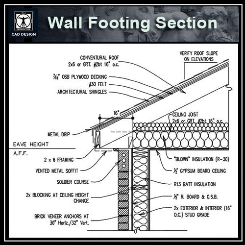 【cad Details Collection Wall Footing Section】 Download