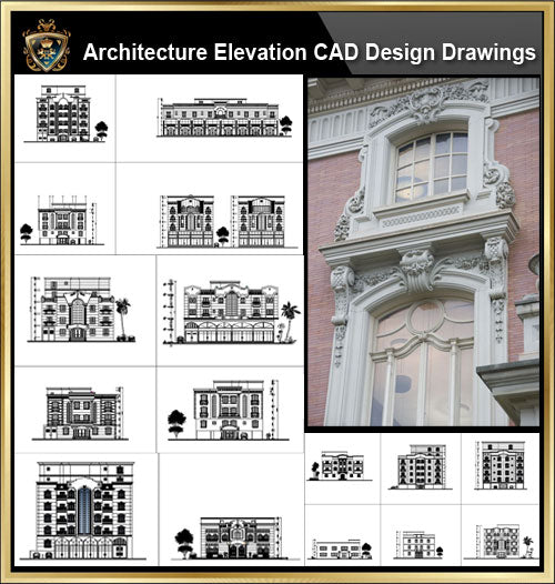 ★【Over 170+ Architecture Elevation,Building elevation CAD Design,Details,Elevation Collection】